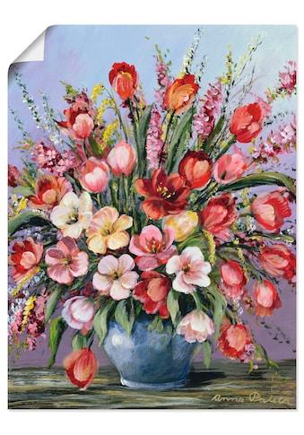 Artland Wandbild »Bunter Tisch III«, Blumen, (1 St.), in vielen Größen & Produktarten... kaufen