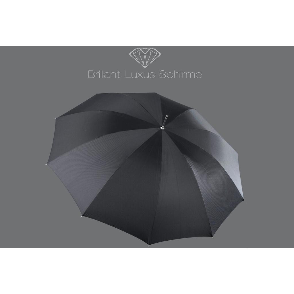 Euroschirm Stockregenschirm »Brilliant Luxus, Leder«