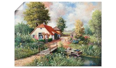 Artland Wandbild »Bauernhof«, Gebäude, (1 St.), in vielen Größen & Produktarten... kaufen