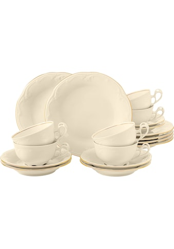 Seltmann Weiden Teeservice »Rubin Goldlinie«, (Set, 18 tlg., 6 Teetassen 0,14 l, 6... kaufen