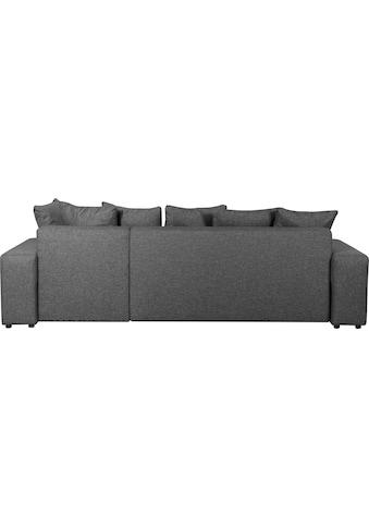 GEPADE Ecksofa »Biggie«, mit Schlaffunktion, Zierkissen und integriertem Regal kaufen