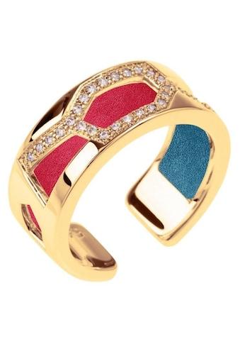 Les Georgettes Ring-Set »GIRAFFE GOLD-ZIRKONIA, 8 mm, petrol-himbeere, GIRG8SZ-M7,... kaufen