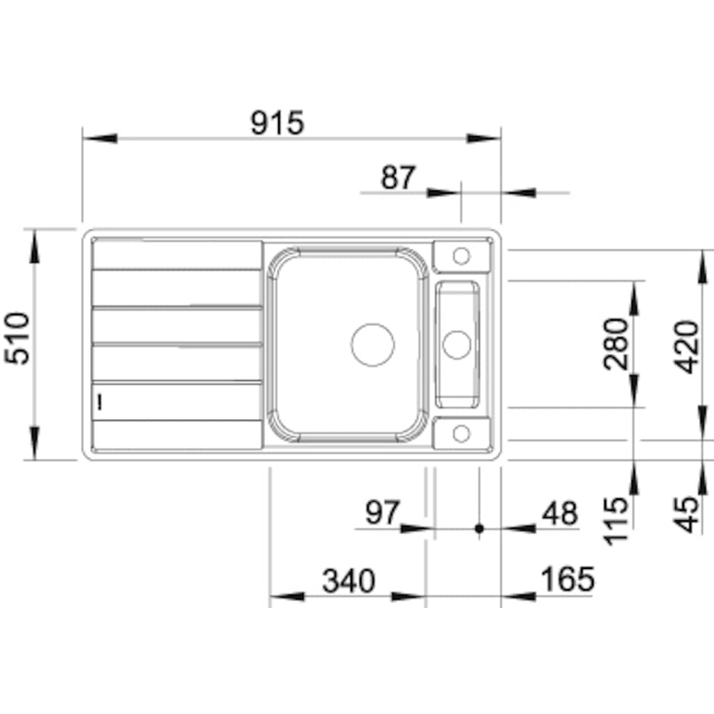 Blanco Küchenspüle »AXIS III 5 S-IF«