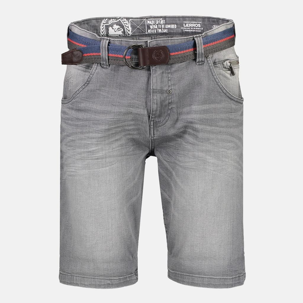 LERROS Bermudas »Grey Denim«, mit Gürtel