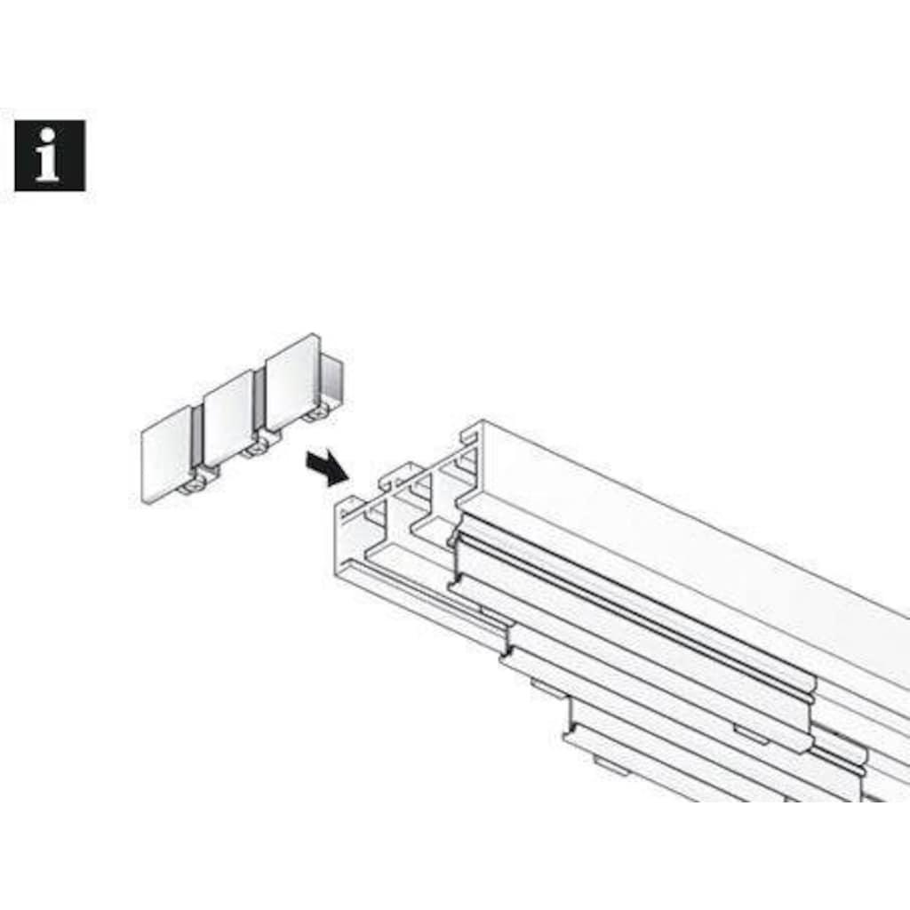 GARDINIA Gardinenstangen-Endstück »Endstück 3-läufig«, Serie Flächenvorhang Technik Atlanta