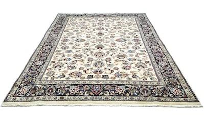 morgenland Wollteppich »Maschad Teppich handgeknüpft beige«, rechteckig, 12 mm Höhe kaufen