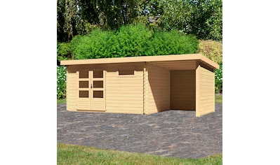 KONIFERA Set: Gartenhaus »Schloßsee 8«, BxT: 605x333 cm, mit Anbau inkl. Seiten -  und Rückwand kaufen