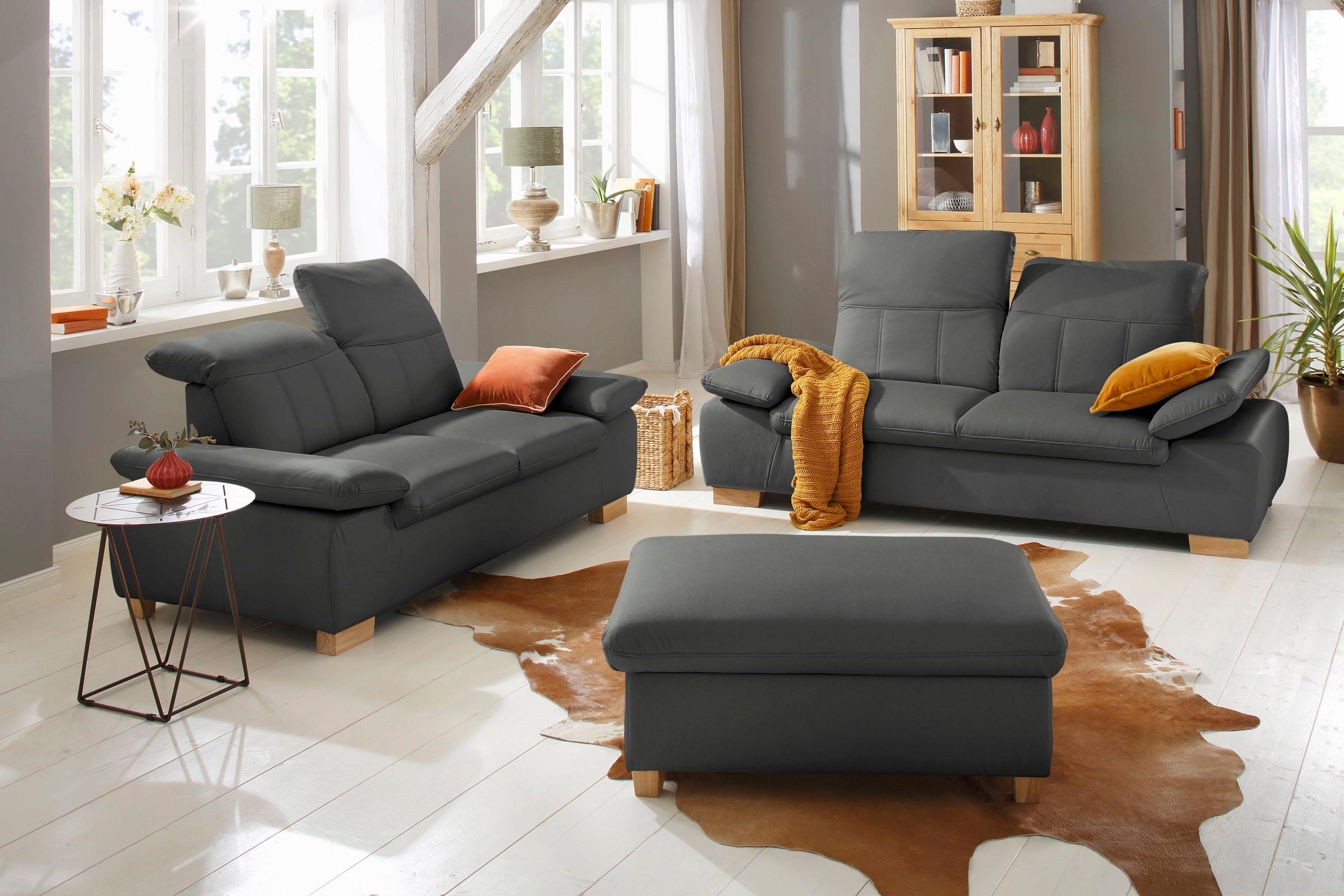 Home affaire 25-Sitzer + 2-Sitzer Bergamo Garnitur mit Armlehn-und Rückenfunktion Federkern