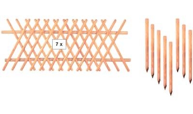 T&J Gartenzaun »Jägerzaun Jefferson 5«, 80 cm hoch, 7 Elemente für 17,5 Meter Zaun,... kaufen