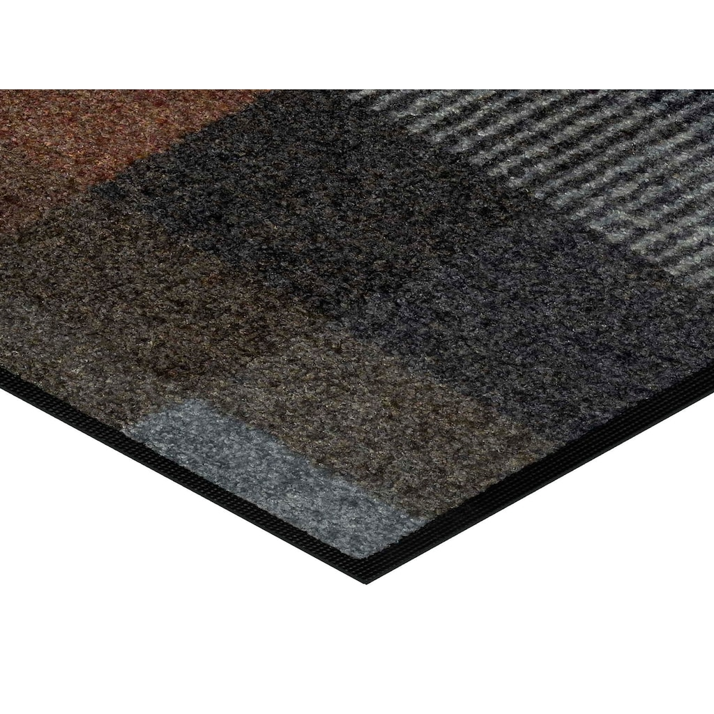 wash+dry by Kleen-Tex Läufer »Quadratini«, rechteckig, 7 mm Höhe, In- und Outdoor geeignet, waschbar
