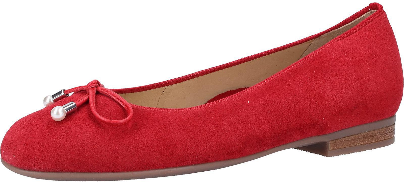 Ara Ballerina Leder rot Damen Ballerinas Schuhe
