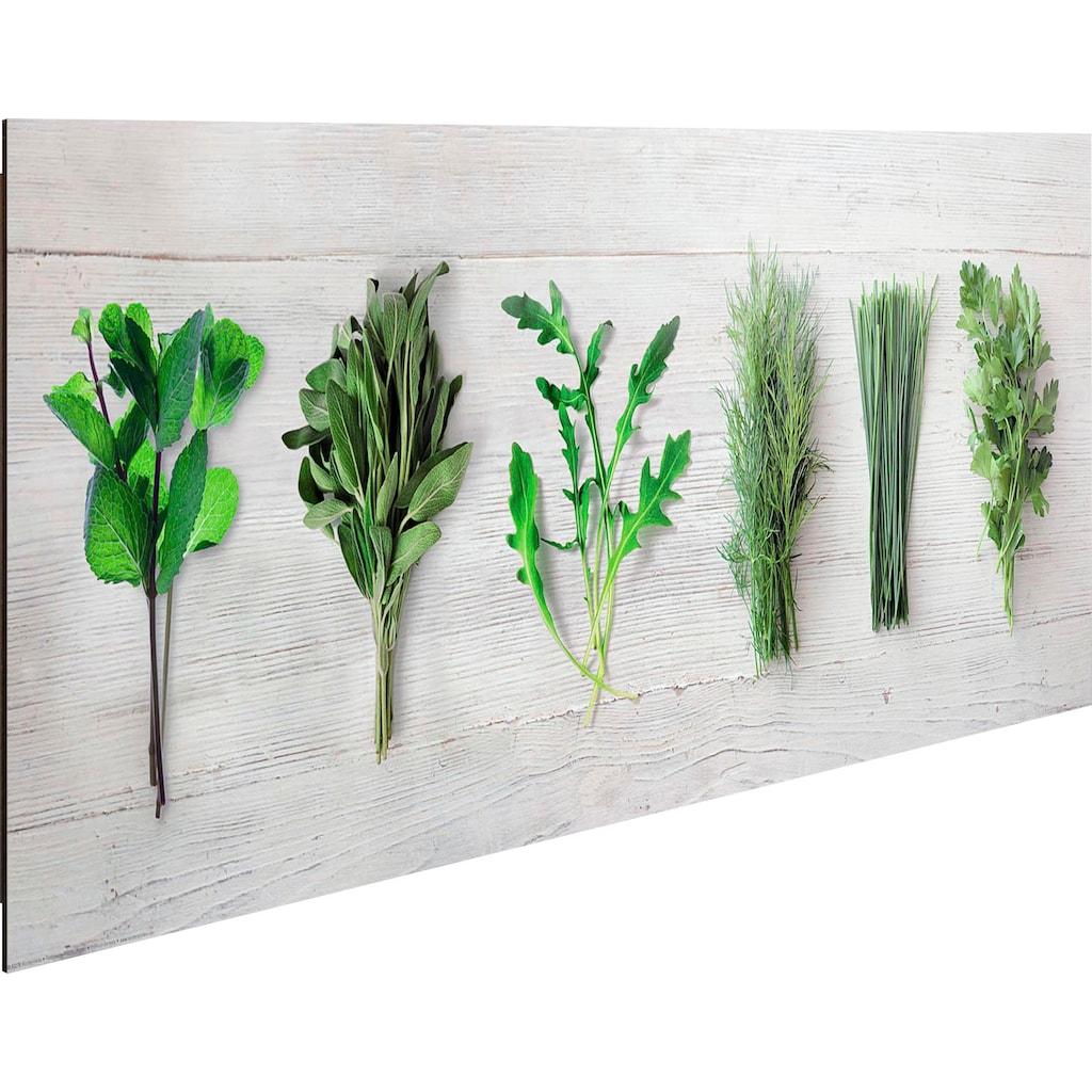 Reinders! Holzbild »Deco Panel 30x90 Kitchen Herbs«