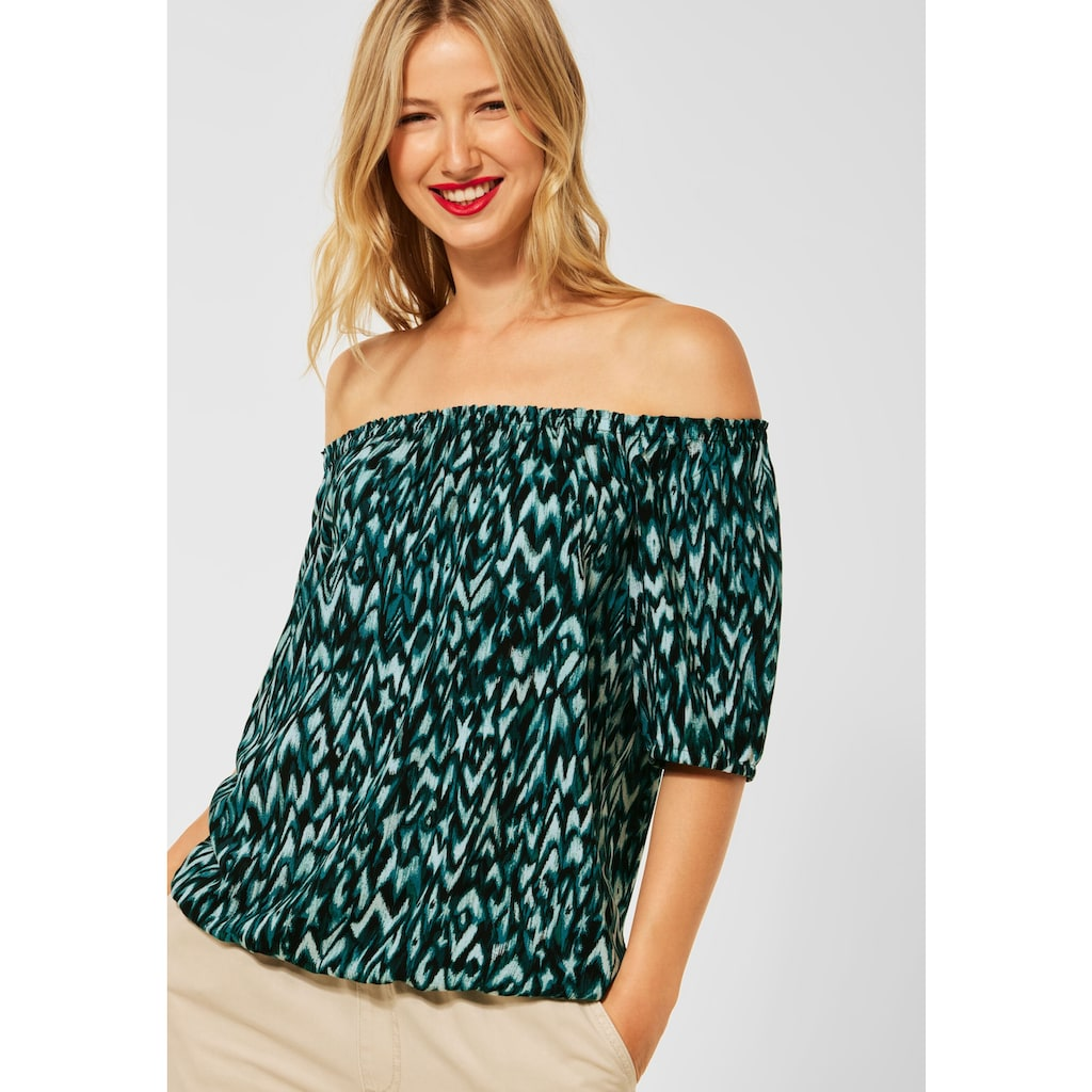 STREET ONE Carmenbluse, mit Muster
