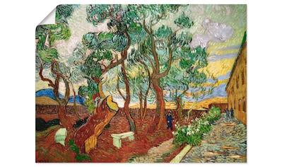 Artland Wandbild »Garten des Hospitals Saint-Paul«, Wiesen & Bäume, (1 St.), in vielen... kaufen