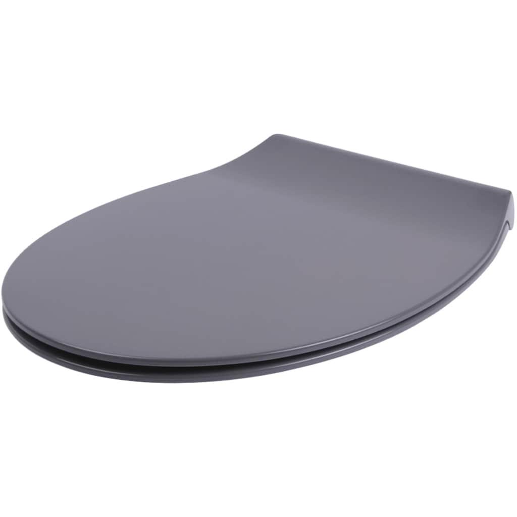 Sanilo WC-Sitz »Flat Grau«, mit Absenkautomatik