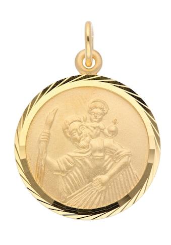Adelia´s Kettenanhänger »585 Gold Anhänger Christophorus Ø 16 mm«, Goldschmuck für Damen kaufen
