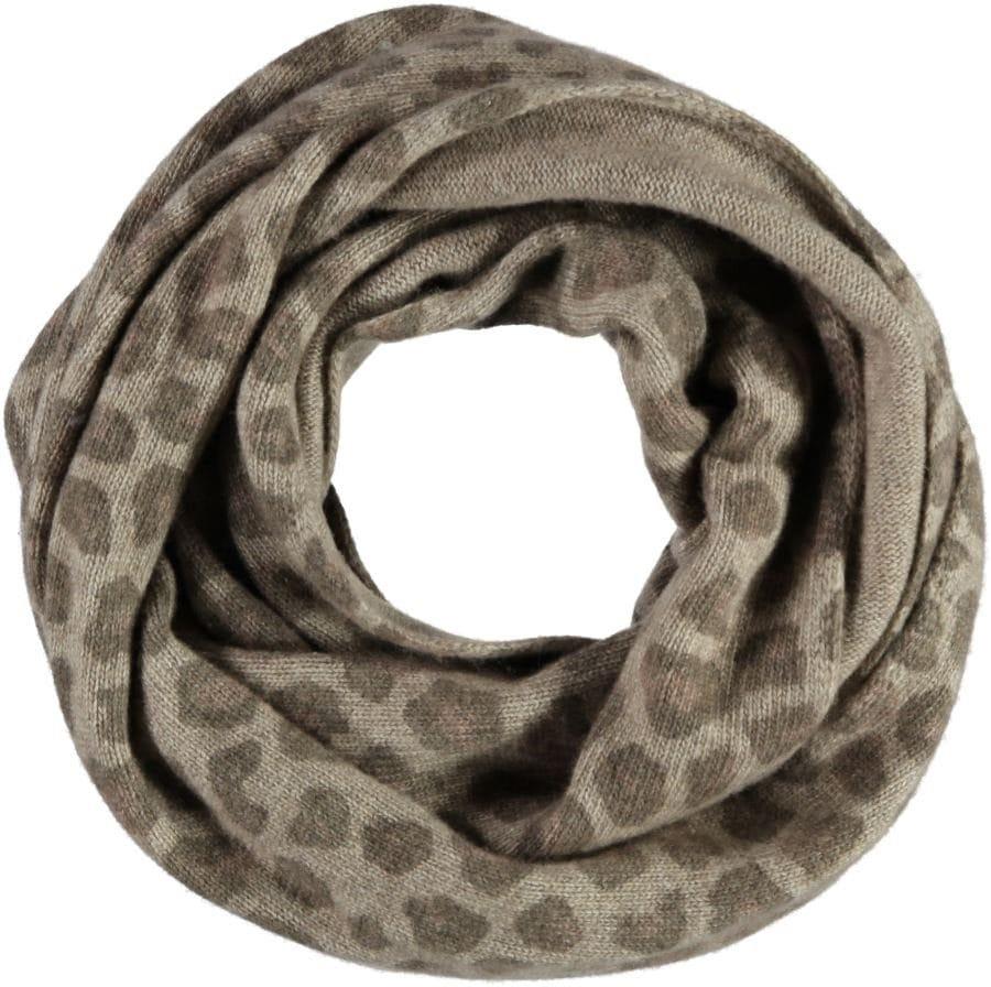 Passigatti Loop mit Animalprint | Accessoires > Schals & Tücher > Loops | Grau | Wolle - Kaschmir | Passigatti