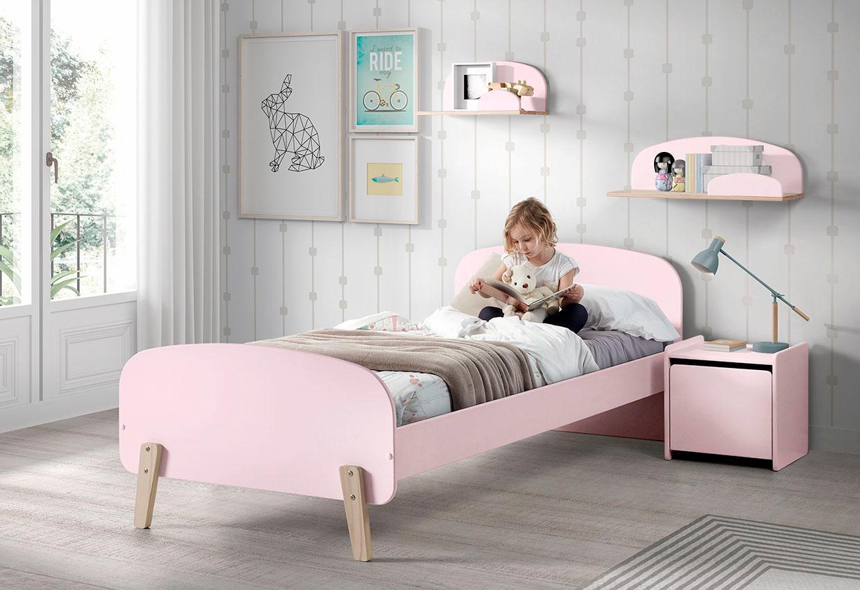 Vipack Kinderbett Kiddy rosa Kinder Kinderbetten Kindermöbel