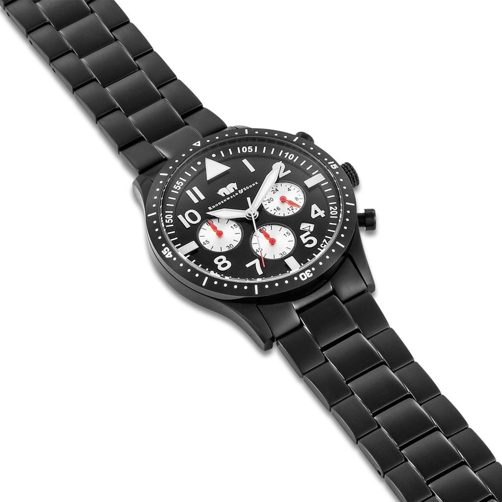 Rhodenwald & Söhne Chronograph »RWS005«, (1 tlg.), Armband aus Edelstahl