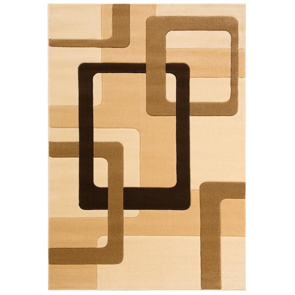 my home Teppich »Maxim«, rechteckig, 13 mm Höhe, Hoch-Tief-Effekt