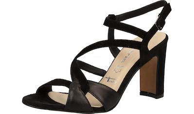 Tamaris High-Heel-Sandalette »Veloursleder« kaufen