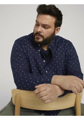 TOM TAILOR Men Plus Leinenhemd »Gemustertes Hemd« kaufen
