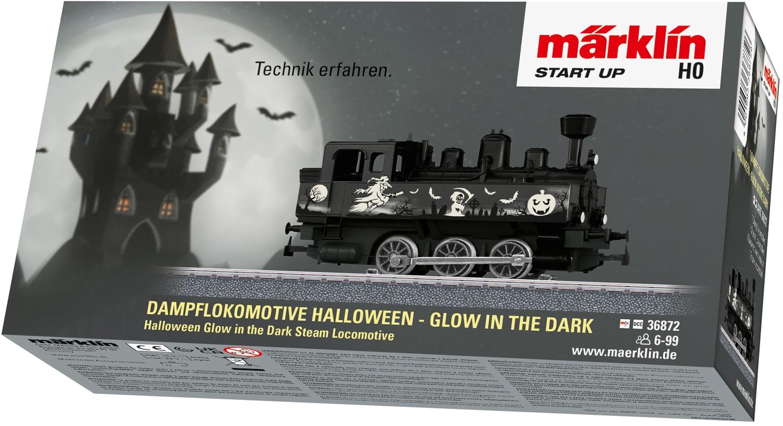Märklin Dampflokomotive Start up - Halloween: Glow in the Dark 36872, Made Europe schwarz Kinder Loks Wägen Modelleisenbahnen Autos, Eisenbahn Modellbau