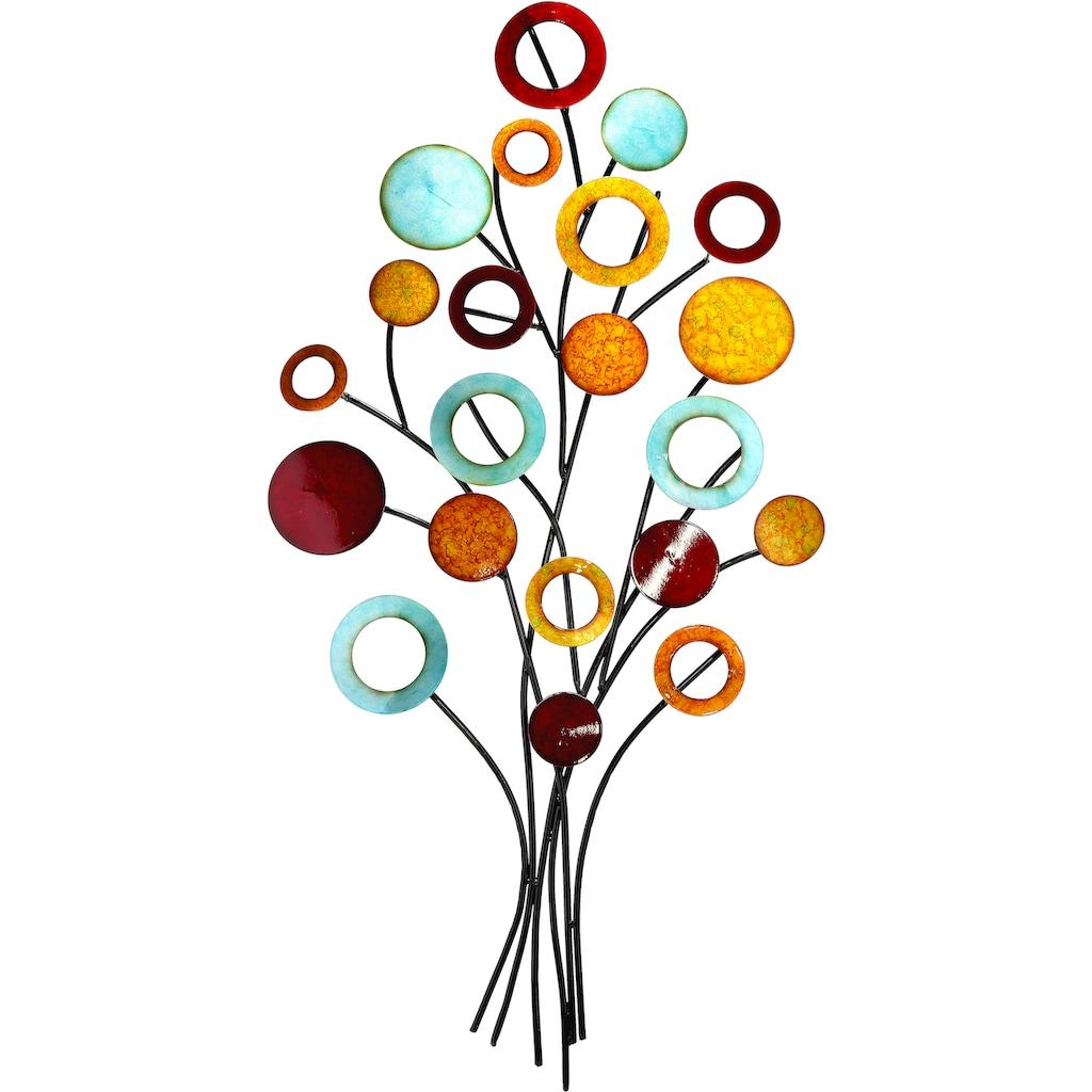 GILDE Wanddekoobjekt »Wandrelief Lebensbaum schlank«, Wanddeko, aus Metall