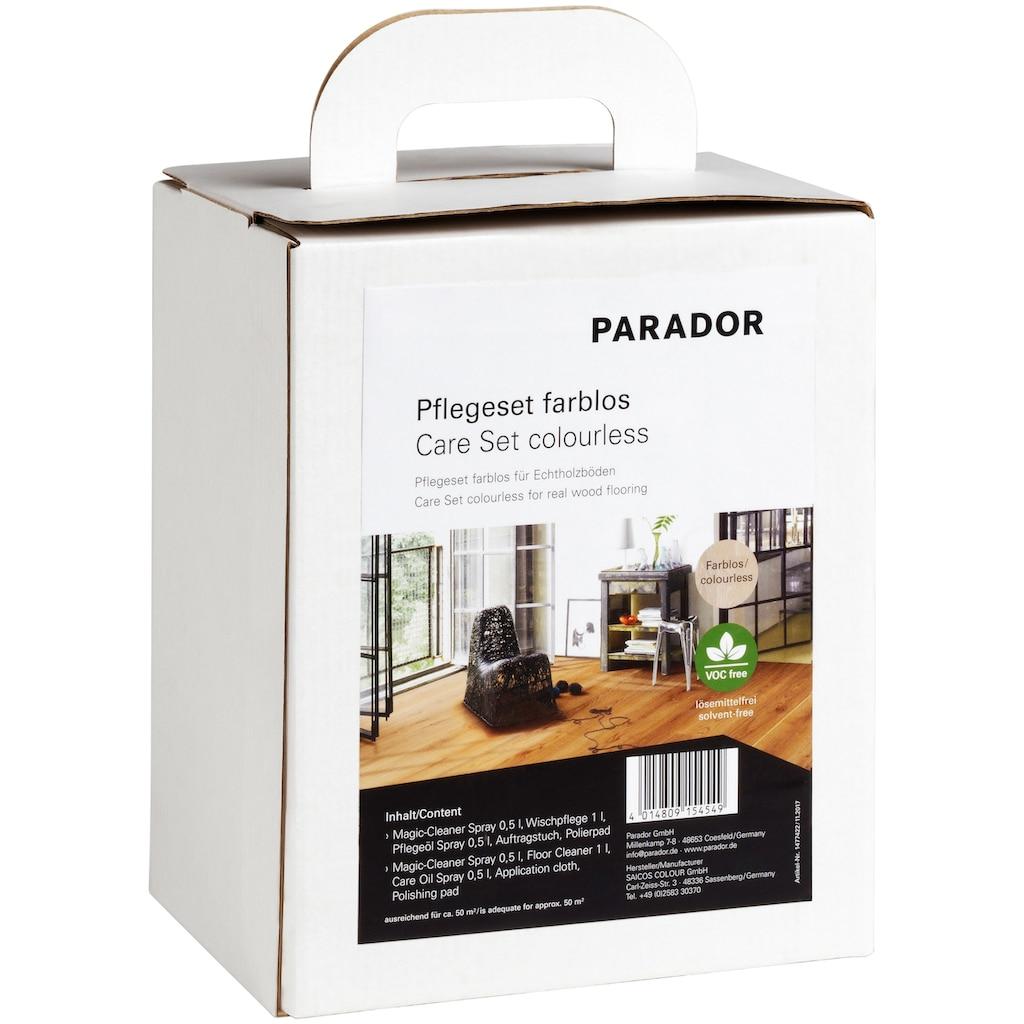 PARADOR Bodenpflegemittel »farblos Parkett«, (Set, 5 St.), für Echtholzböden
