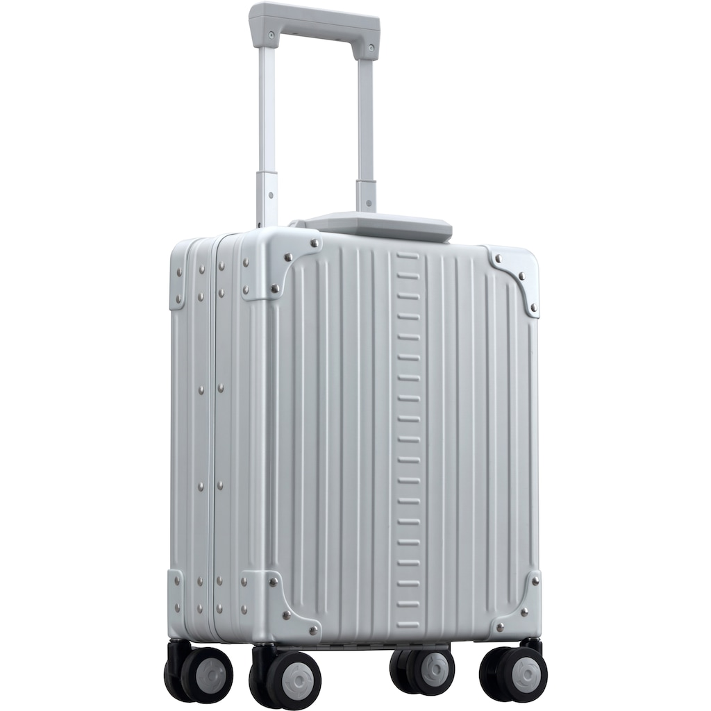 ALEON Hartschalen-Trolley »Aluminiumkoffer Vertical Underseat Carry-On, 32 cm«, 4 Rollen, inkl. Kabeltasche und Schutzhülle