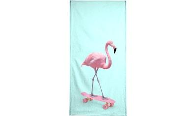 """Handtuch """"Skate Flamingo"""", Juniqe kaufen"""