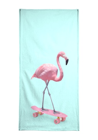 """Strandtuch """"Skate Flamingo"""", Juniqe kaufen"""