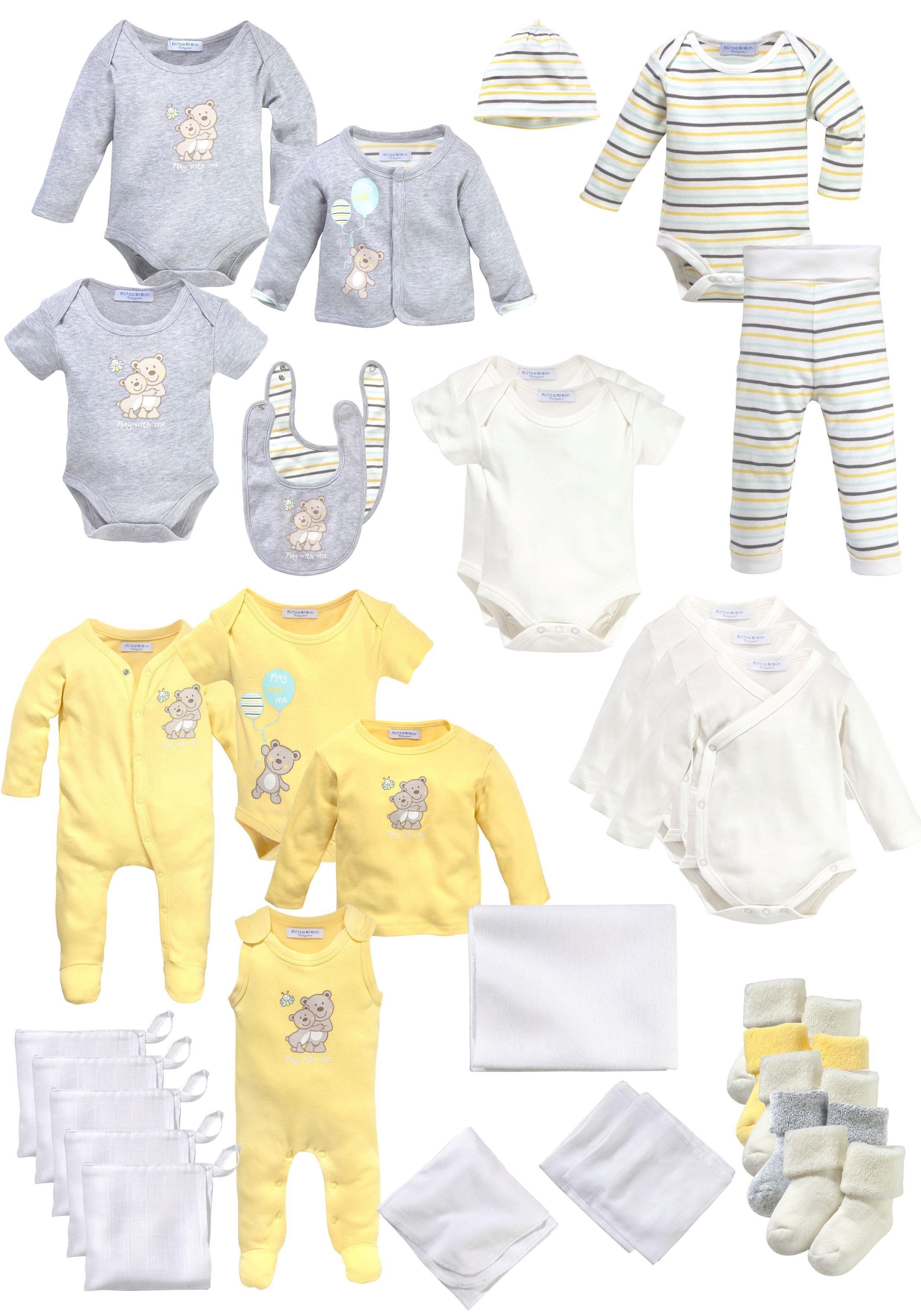 Klitzeklein Erstausstattungspaket, aus Bio-Baumwolle weiß Baby Erstausstattungspaket Babykleidung