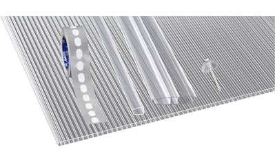 GUTTA Set: Doppelstegplatte »GUTTGLISS«, 4 Stück Hohlkammerplatte 10 mm, BxL: 98x250 cm kaufen