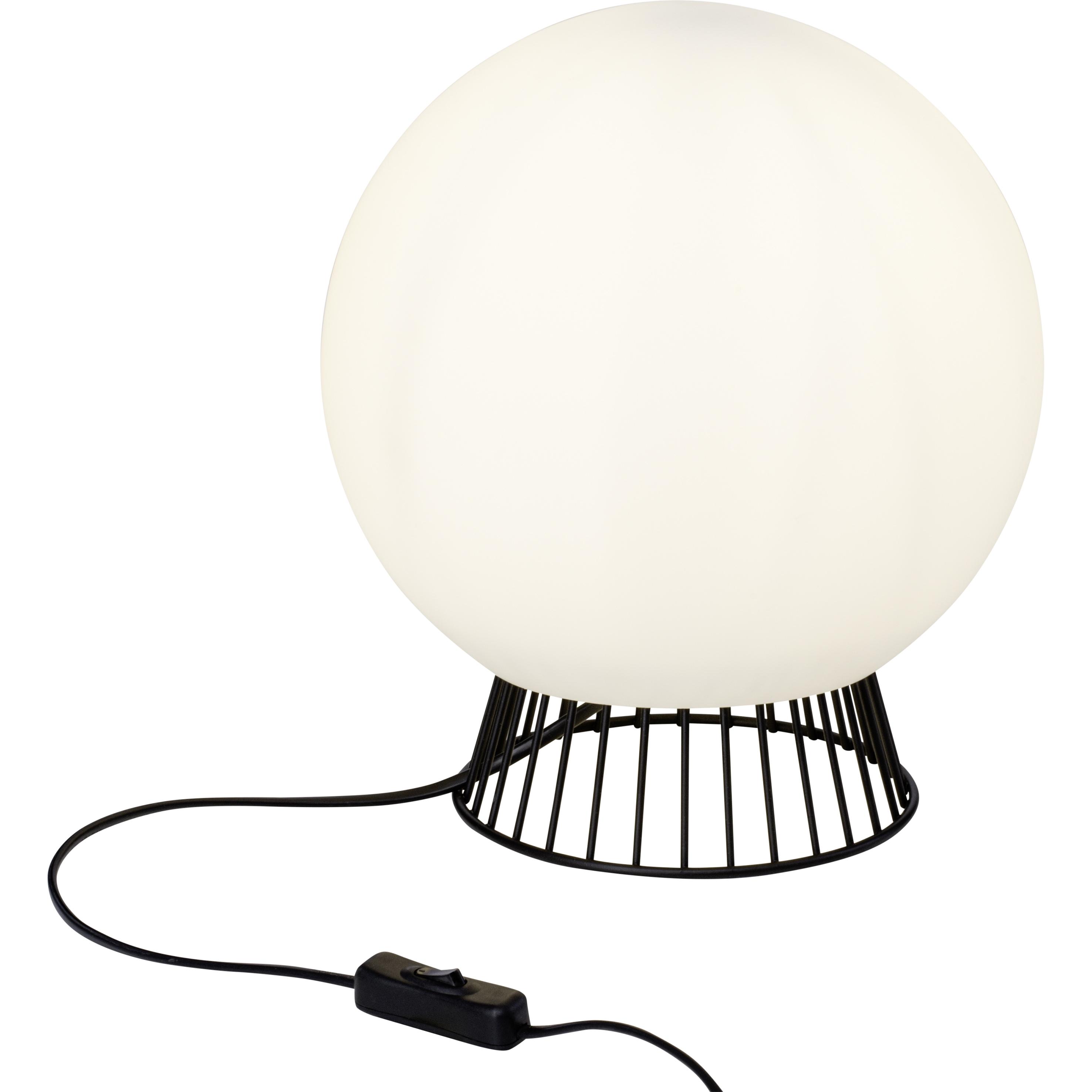Brilliant Leuchten Dingli Tischleuchte 25cm schwarz/weiß