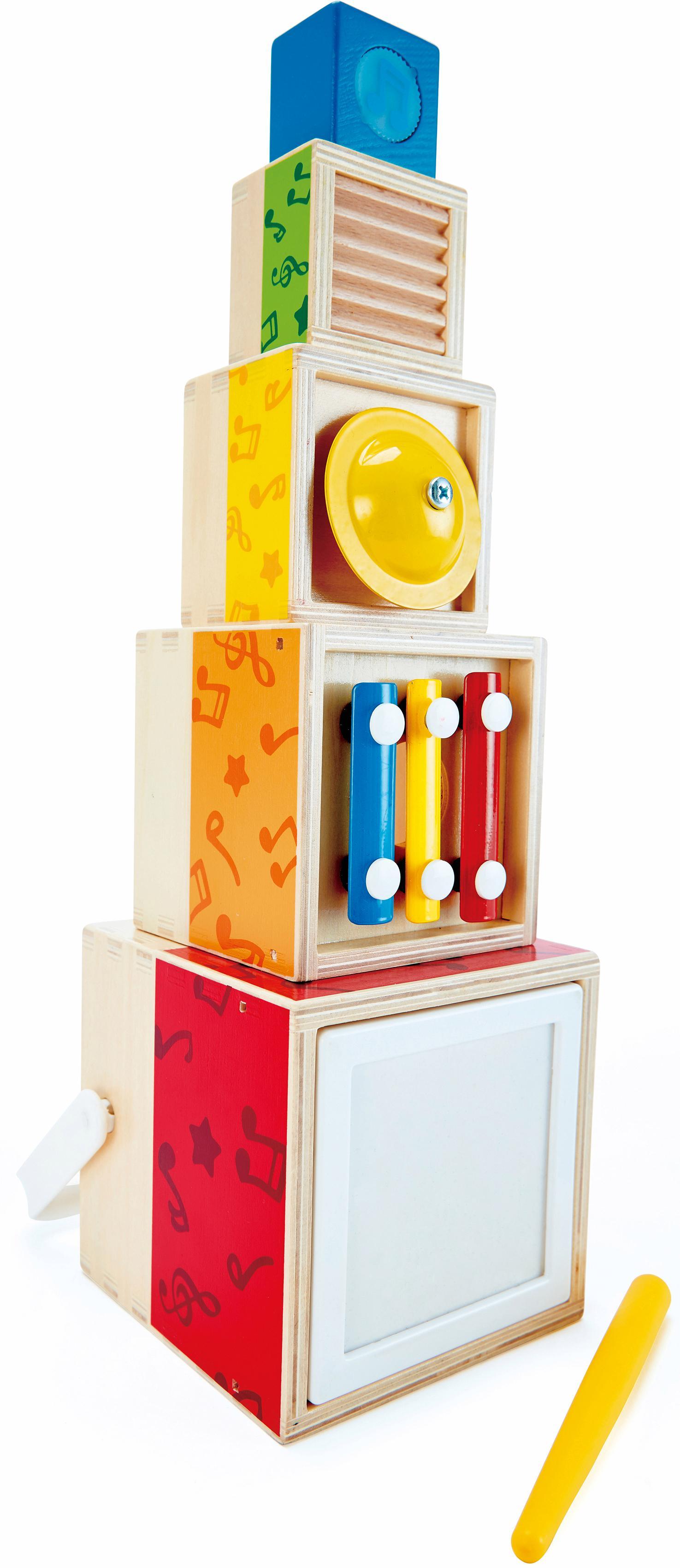 "Hape Spielzeug-Musikinstrument ""Musik-Stapelwürfel"" Kindermode/Spielzeug/Musikinstrumente/Musikspielzeug"