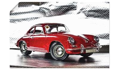 Artland Wandbild »Klassiker - Der Porsche 356«, Auto, (1 St.), in vielen Größen &... kaufen