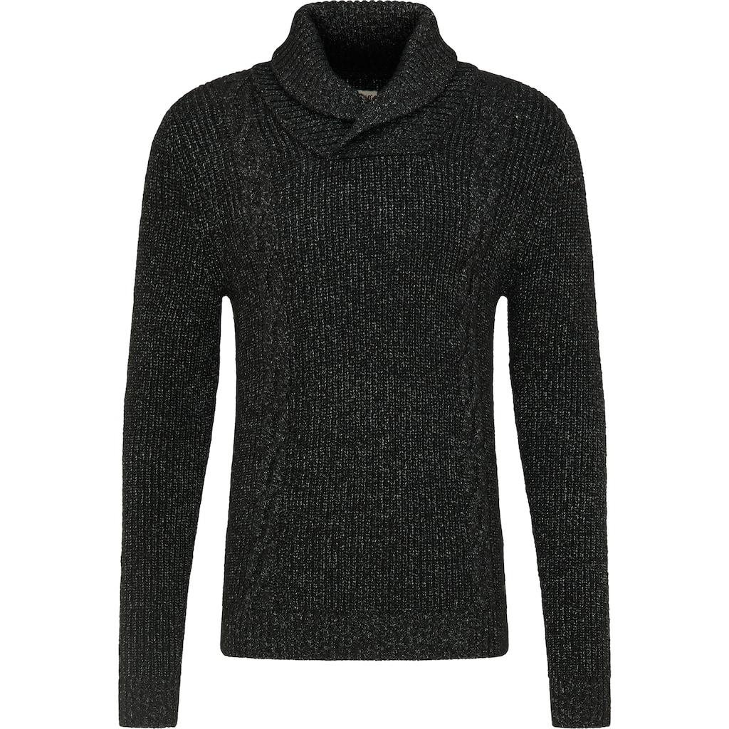 MUSTANG Strickpullover »Emil Shawlcollar«, Sweater