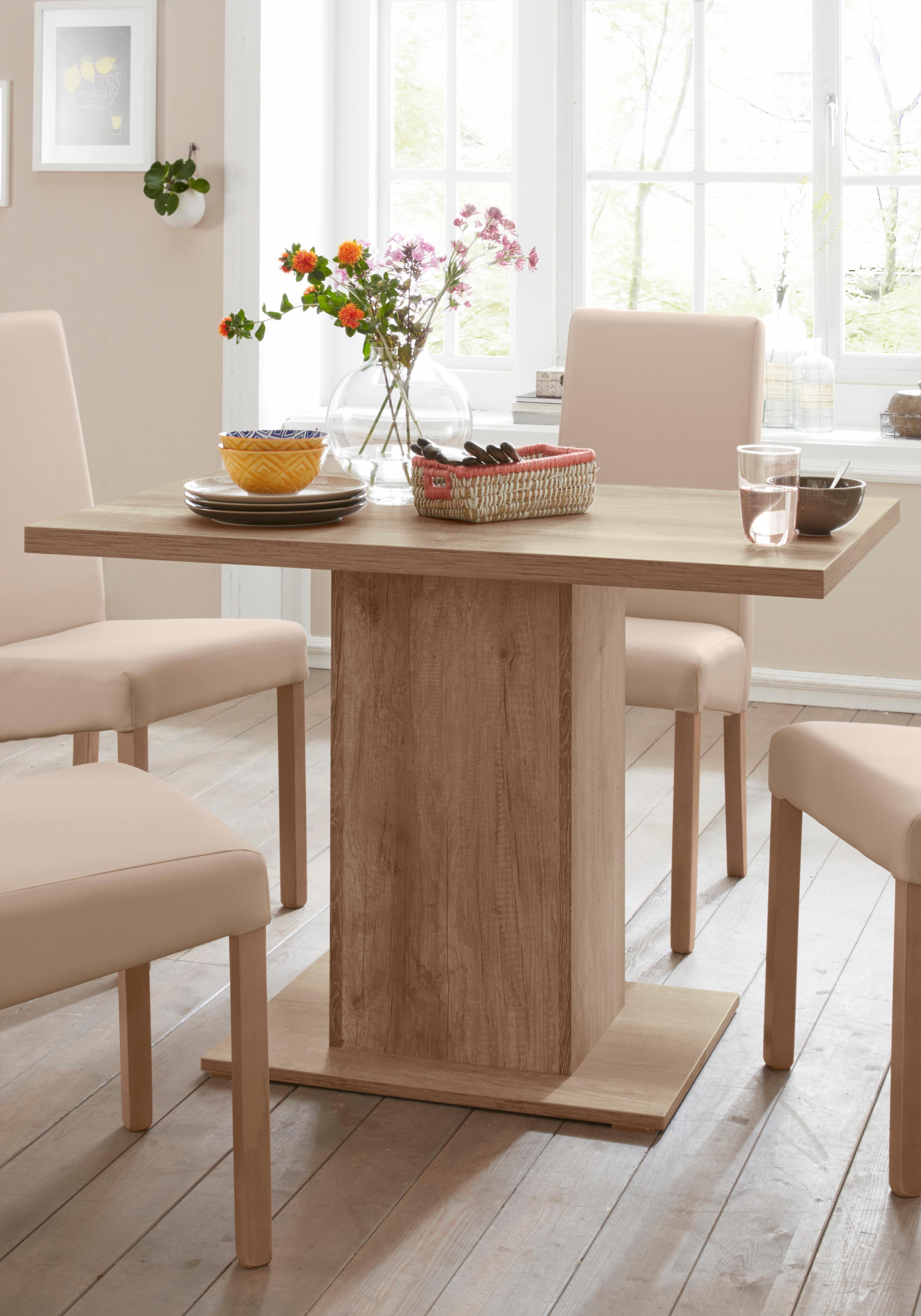 my home Säulen-Esstisch Hamburg, Breite 110 cm braun Säulentische Esstische Tische