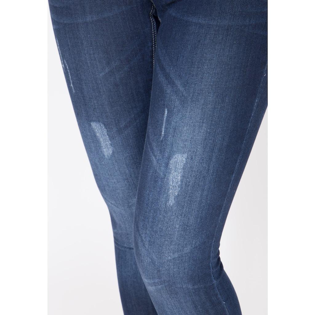 Way of Glory Skinny-fit-Jeans »Jessie«, mit Abrieb Effekten