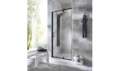 WELLTIME Nischentür »Piha«, Duschtür schwarz, BxH: 90 x 195 cm kaufen