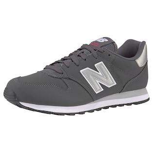 New Balance Sneaker WL 574 Leder Textil Grau 3581530329