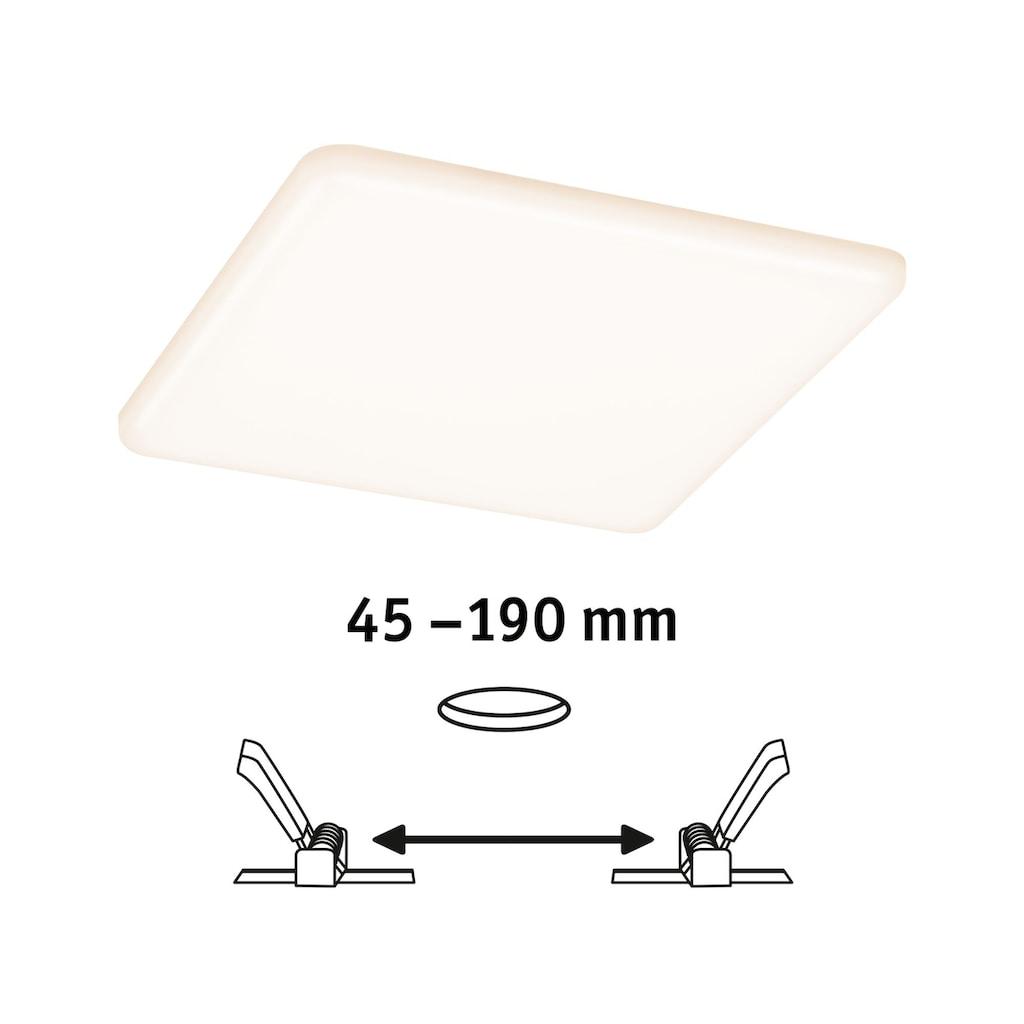 Paulmann,LED Einbauleuchte»Panel Veluna VariFit IP44 eckig 185x185mm 17W 3.000K Satin«,