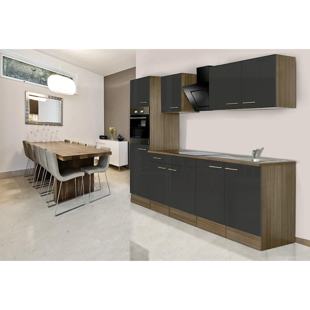 RESPEKTA Küchenzeile »York«, mit E-Geräten, Breite 270 cm