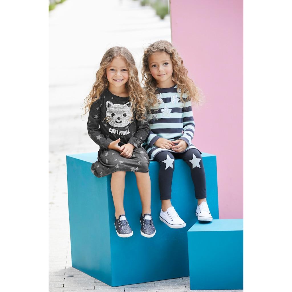 KIDSWORLD Jerseykleid, mit Pailletten-Applikation