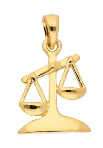 Adelia´s Kettenanhänger »585 Gold Sternzeichen Anhänger Waage«, Goldschmuck für Damen... kaufen