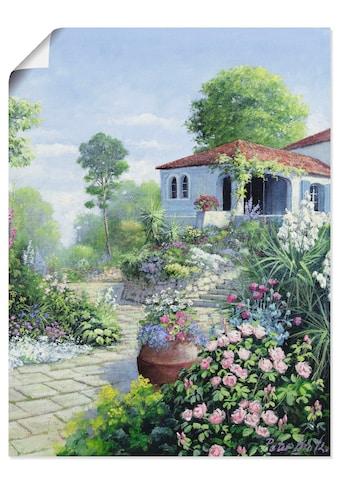 Artland Wandbild »Italienischer Garten I«, Garten, (1 St.), in vielen Größen &... kaufen