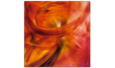 Artland Glasbild »Roter Lichtertanz«, Gegenstandslos, (1 St.) kaufen