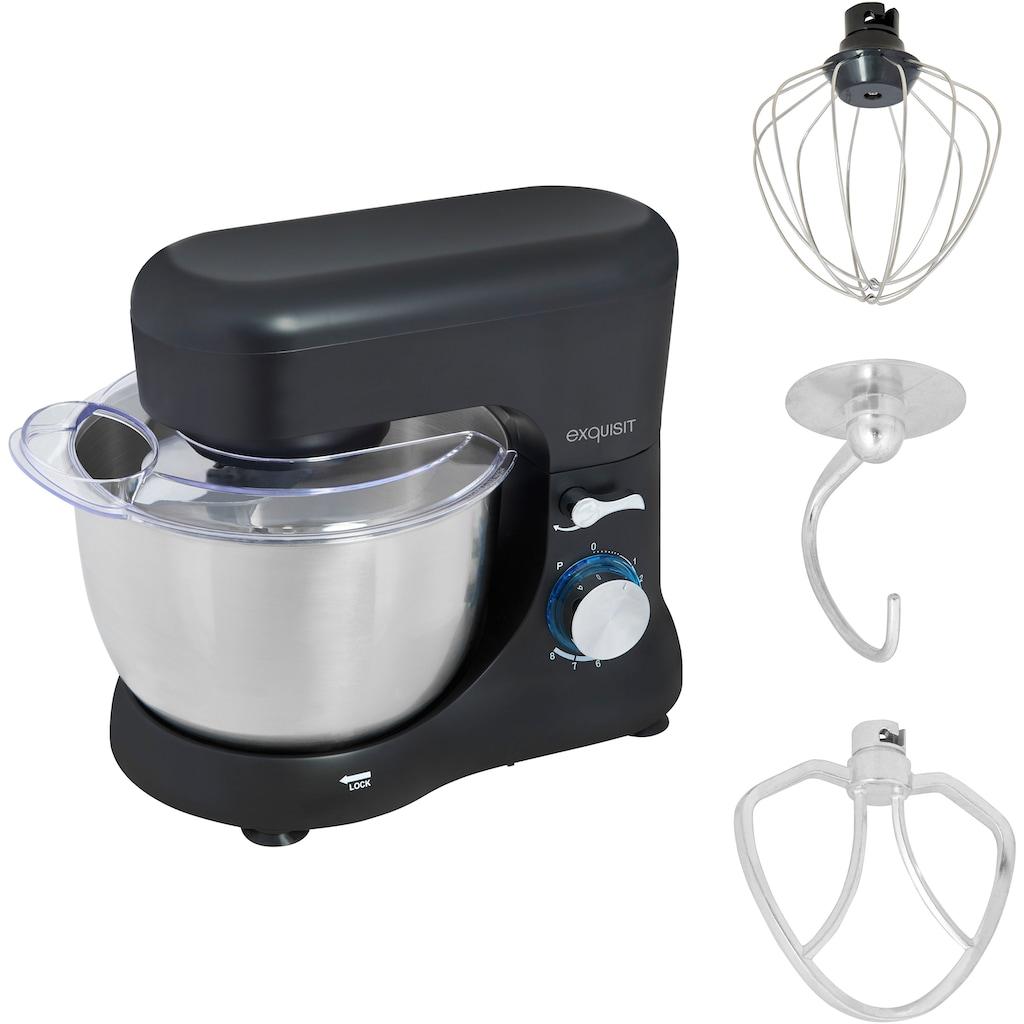 exquisit Küchenmaschine »KM 3101 sw«, 1000 W, 4,5 l Schüssel