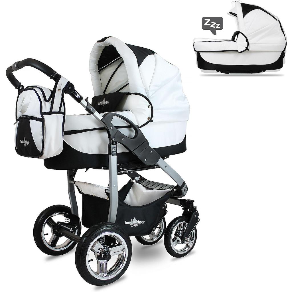 bergsteiger Kombi-Kinderwagen »Capri, beige circles, 3in1«, 15 kg, Made in Europe; Kinderwagen